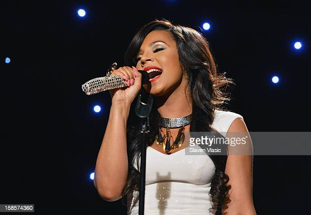 Singer Ashanti performs on Fox Friends Christmas Special at FOX Studios on December 6 2012 in New York City