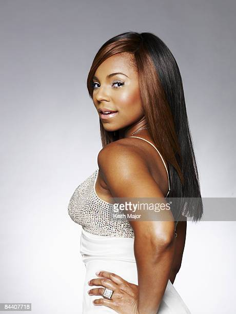Singer Ashanti poses at a portrait session in New York