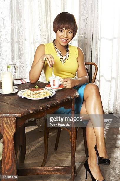 Singer Ashanti poses for OK Magazine in New York
