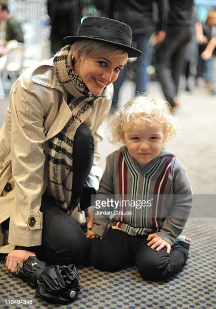 Singer Ashlee Simpson and Bronx Wentz attend the Milk And Bookies Second Annual Story Time Celebration held at the Skirball Cultural Center on March...