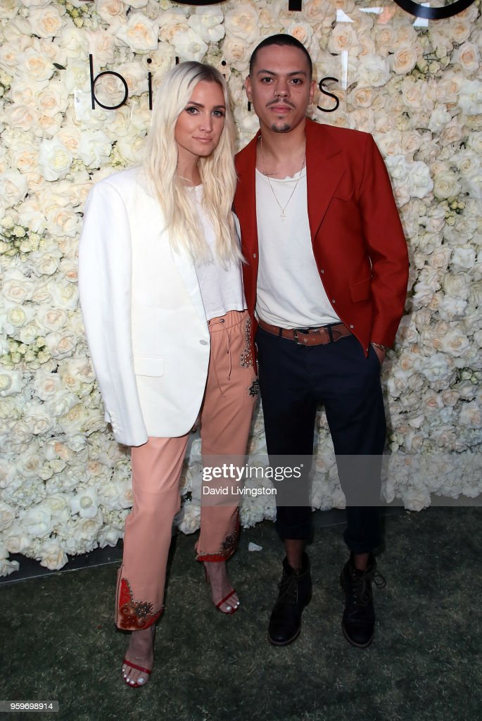 Singer Ashlee Simpson (L) and husband/actor Evan Ross attend the Gigi C Bikinis Pop-Up Launch Event at The Park at The Grove on May 17, 2018 in Los Angeles, California.