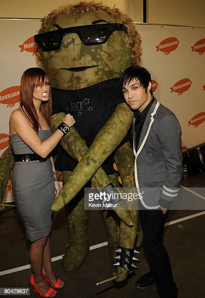Singer Ashlee Simpson and Musician Pete Wentz during Nickelodeons 2008 Kids Choice Awards held at the Pauley Pavilion on March 29 2008 in Westwood...