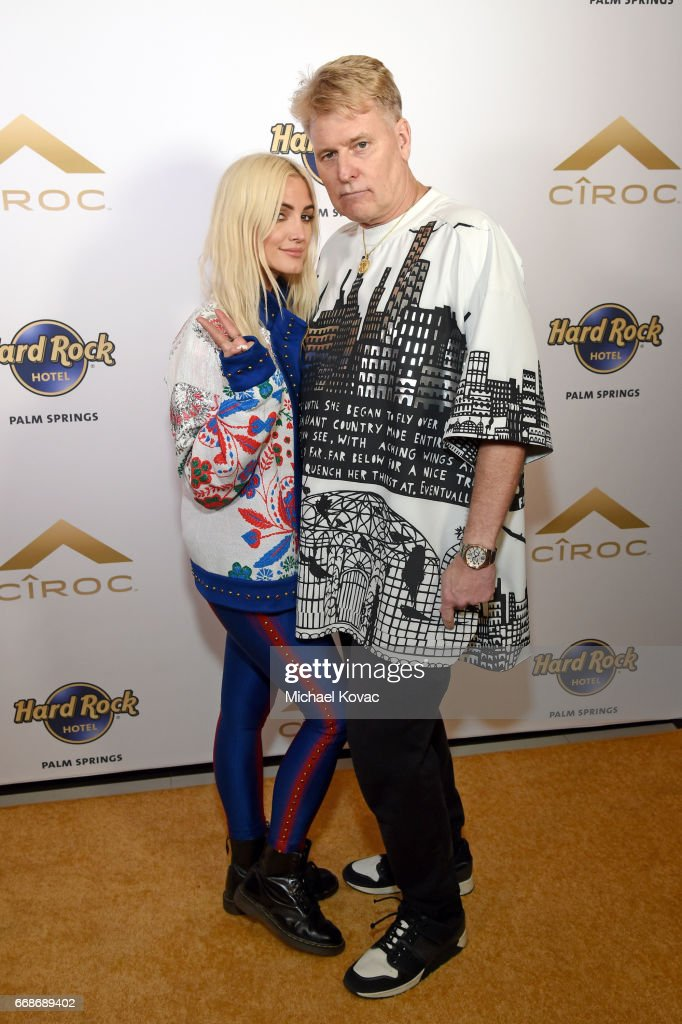 Singer Ashlee Simpson (L) and photographer Joe Simpson celebrate a Toast to Summer with the NEW Limited Edition CIROC Summer Colada at the Hard Rock Hotel Palm Springs on April 14, 2017 in Palm Springs, California.