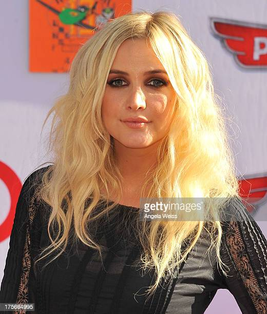 Singer Ashlee Simpson arrives at the premiere of Disney's 'Planes' presented by Target at the El Capitan Theatre on August 5 2013 in Hollywood...