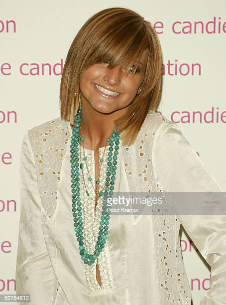 Singer Ashlee Simpson arrives for an event hosted by the Candie's Foundation to raise awareness about teen pregnancy at Gotham Hall on May 3 2005 in...