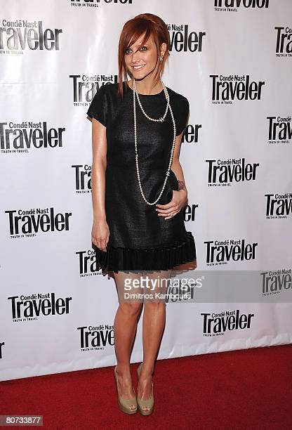 Singer Ashlee Simpson attends the Conde Nast Traveler 8th Annual Hot List Party at Mansion on April 17, 2008 in New York City.