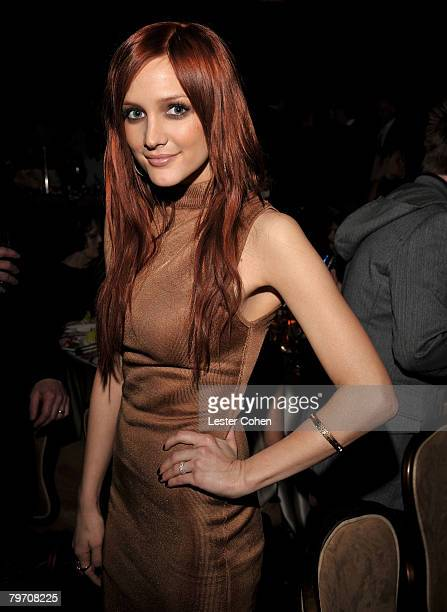 BEVERLY HILLS CA FEBRUARY 09 Singer Ashlee Simpson during the 2008 Clive Davis PreGRAMMY party at the Beverly Hilton Hotel on February 9 2008 in Los...