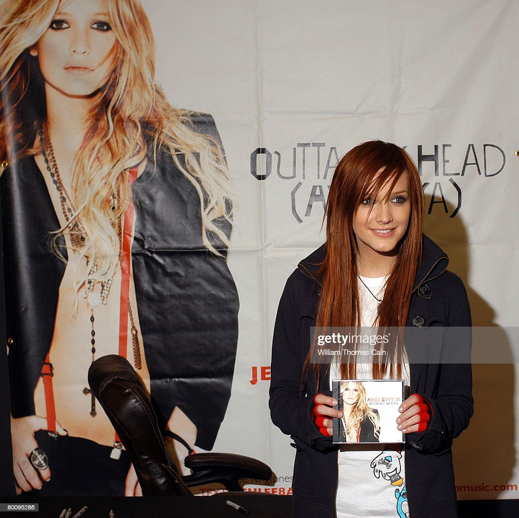 Singer Ashlee Simpson Meets And Greets Fans During A Signing Party
