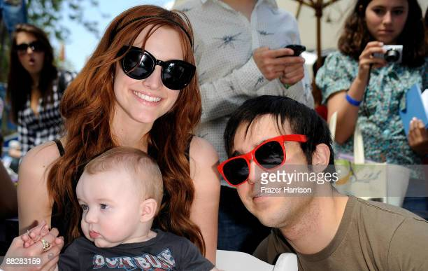 Singer Ashlee Simpson son Bronx Mowgli Wentz and musician Pete Wentz attend A Time for Heroes Celebrity Carnival Sponsored by Disney benefiting the...