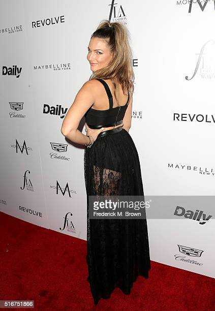 Singer Ashlee Willis attends the Daily Front Row Fashion Los Angeles Awards at Sunset Tower Hotel on March 20 2016 in West Hollywood California