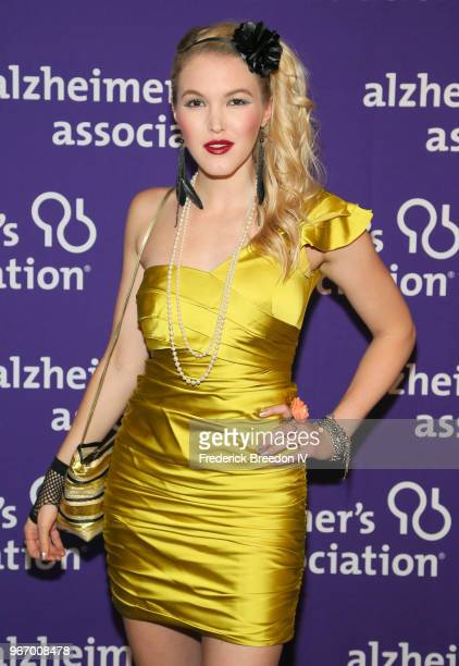 Singer Ashley Campbell attends Nashville '80s Dance Party benefiting The Alzheimer's Association at Wildhorse Saloon on June 3 2018 in Nashville...