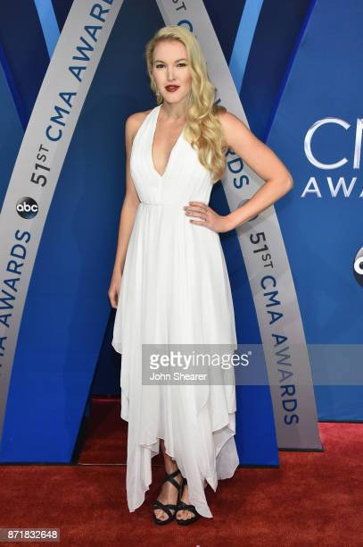 Singer Ashley Campbell attends the 51st annual CMA Awards at the Bridgestone Arena on November 8 2017 in Nashville Tennessee