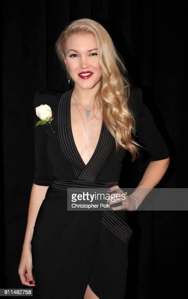 Singer Ashley Campbell daughter of GRAMMY nominee Glen Campbell attends the 60th Annual GRAMMY Awards at Madison Square Garden on January 28 2018 in...