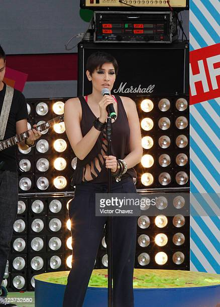 Singer Ashley Grace Perez Mosa of HaAsh performs during the 2011 Kids Choice Awards Mexico at Six Flags Mexico on September 3 2011 in Mexico City...