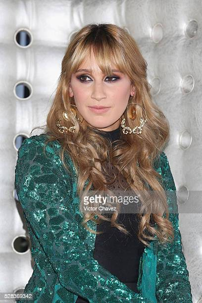 Singer Ashley Grace Perez of Ha-Ash attends a press conference at Hotel Camino Real Polanco on May 4, 2016 in Mexico City, Mexico.