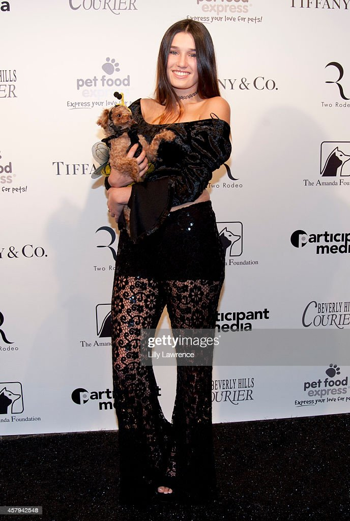 Singer Ashley Resh attends the Amanda Foundation's 2014 Bow Wow Beverly Hills Halloween Rodeo Drive 'Night Of The Living Dog!' Event at Via Rodeo at Two Rodeo Drive on October 26, 2014 in Beverly Hills, California.
