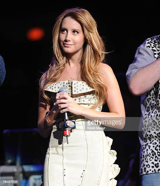 Singer Ashley Tisdale at Z100's Jingle Ball 2007 at Madison Square Garden on December 14, 2007 in New York City.