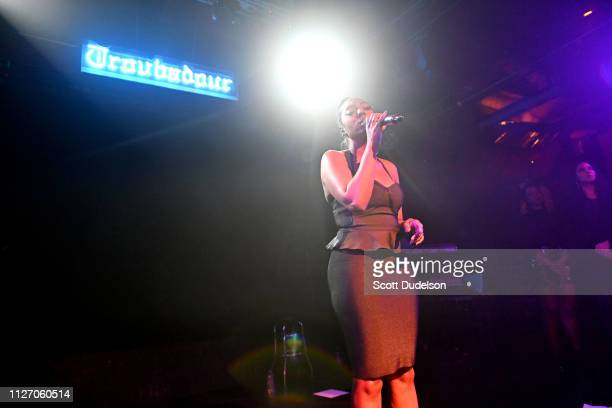 Singer Ashly Williams of June's Diary performs onstage at Troubadour on February 02, 2019 in West Hollywood, California.