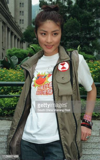 Singer attend 98' Solar Project by RTHK at Chater road Central Singer Kelly Chen 12 jul 98