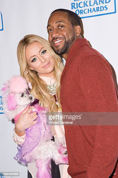 Singer Aubrey O'Day and actor Jaleel White attend the Maria Menounos And Rickland Orchards Kick Off The Holidays And The Launch Of CHILL At W Los...