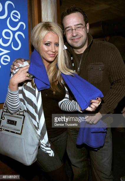 Singer Aubrey O'Day and Nicholas Maurer at the Island Def House of Hype Hospitality Suite on January 16 2009 in Park City Utah