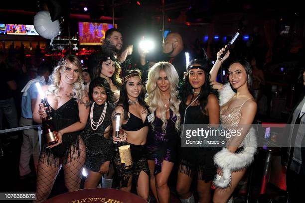 Singer Aubrey O'Day hosts New Years Eve at Hustler Club Las Vegas on January 1 2018 in Las Vegas Nevada