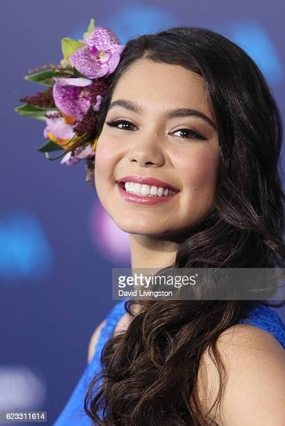 Singer Auli'i Cravalho arrives at the AFI FEST 2016 presented by Audi premiere of Disney's 'Moana' held at the El Capitan Theatre on November 14 2016...