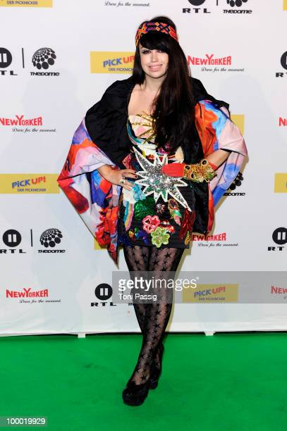 Singer Aura Dione arrives at 'The Dome 54' at Schleyerhalle on May 20 2010 in Stuttgart Germany