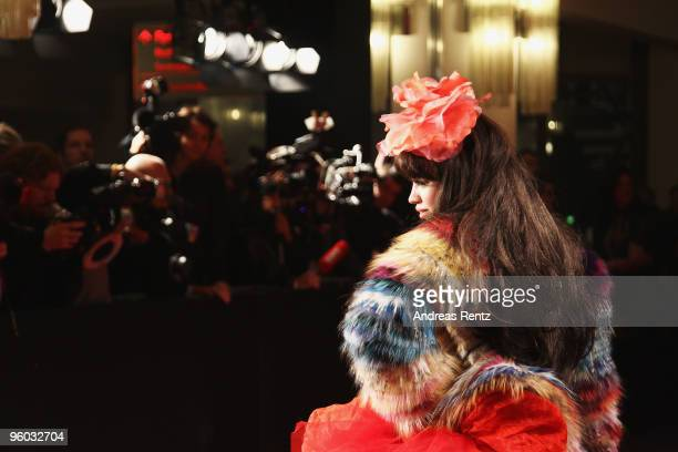 Singer Aura Dione arrives at the Michalsky Style Night during the MercedesBenz Fashion Week Berlin Autumn/Winter 2010 at the Friedrichstadtpalast on...