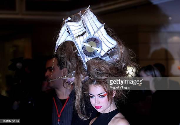 Singer Aura Dione attends the Audi Generation Award 2010 at Hotel Bayerischer Hof on October 23 2010 in Munich Germany