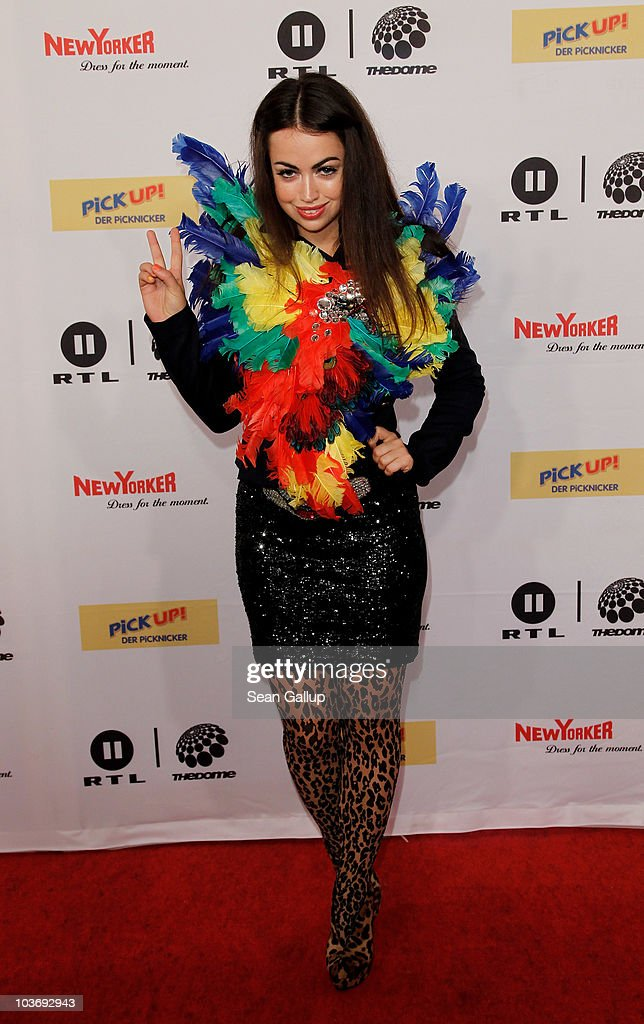 Singer Aura Dione attends The Dome 55 on August 27, 2010 in Hannover, Germany.