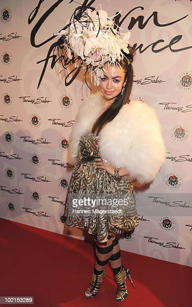 Singer Aura Dione attends the Thomas Sabo parfum launch party at the Spiegelsalon on June 16 2010 in Munich Germany