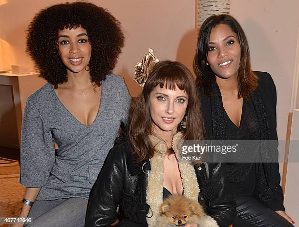 Singer Aurelie Konate actress Frederique Bel and TV presenter Audrey Chauveau attend the 'Diamond Night by Divinescence Vendome' Harumi Klossowska...