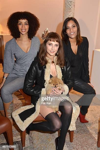 Singer Aurelie Konate actress Frederique Bel and TV presenter Audrey Chauveau attend the 'Diamond Night by Divinescence Vendome' Harumi Klossowska...