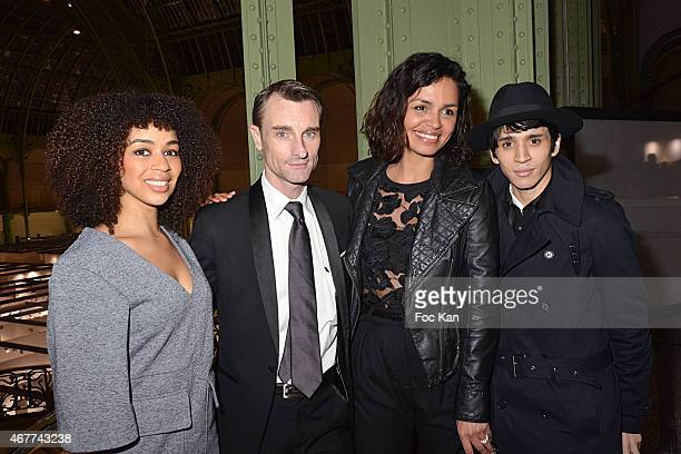 Singer Aurelie Konate Renaud Duval Laurence Roustandjee and PR Tony Boccara attend the 'Diamond Night by Divinescence Vendome' Harumi Klossowska...