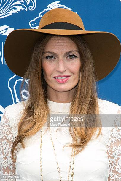 Singer Aurelie Saada of 'Brigitte' attends the 'Prix de Diane Longines' on June 19 2016 in Chantilly France