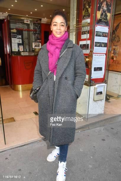 "Singer Aurélie Konaté attends the ""Lavande"" screening at Mac Mahon Cinema on January 04, 2020 in Paris, France."