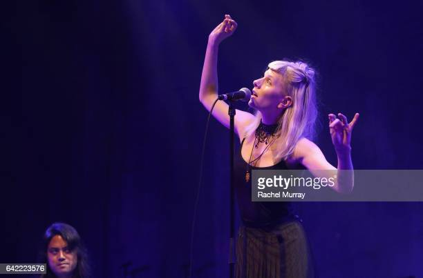 Singer Aurora performs onstage at The 7th Annual Guild Of Music Supervisors Awards at The Theater at Ace Hotel on February 16 2017 in Hollywood...