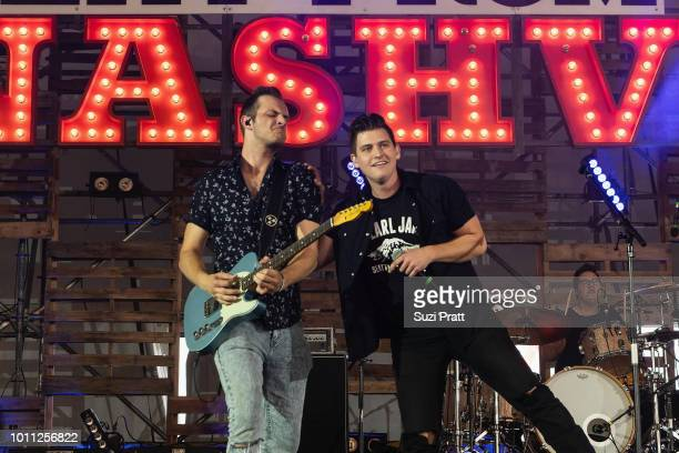 Singer Austin Burke performs at Watershed Festival at Gorge Amphitheatre on August 4 2018 in George Washington