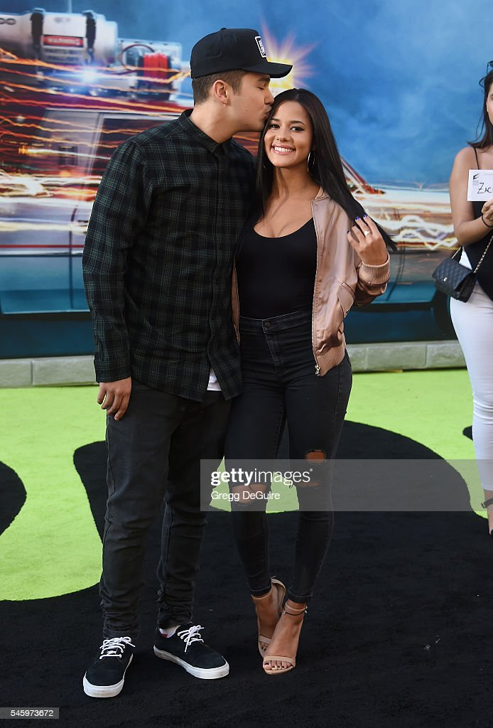 Singer Austin Mahone and Katya Henry arrive at the premiere of Sony Pictures' 'Ghostbusters' at TCL Chinese Theatre on July 9, 2016 in Hollywood, California.