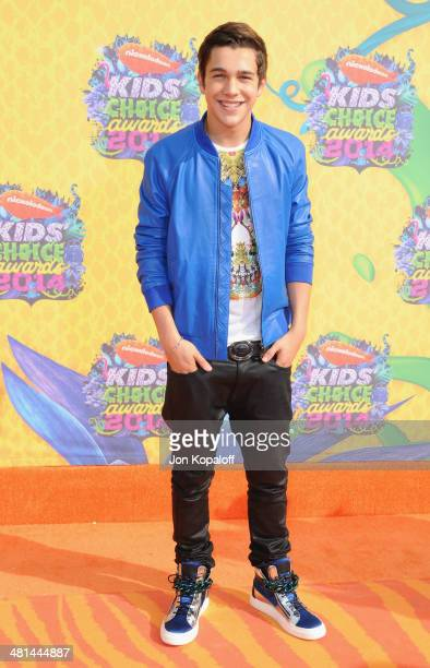 Singer Austin Mahone arrives at Nickelodeon's 27th Annual Kids' Choice Awards at USC Galen Center on March 29 2014 in Los Angeles California