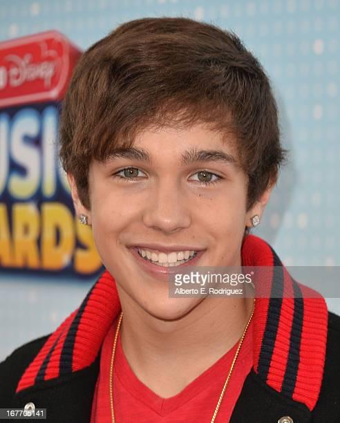 Singer Austin Mahone arrives to the 2013 Radio Disney Music Awards at Nokia Theatre LA Live on April 27 2013 in Los Angeles California