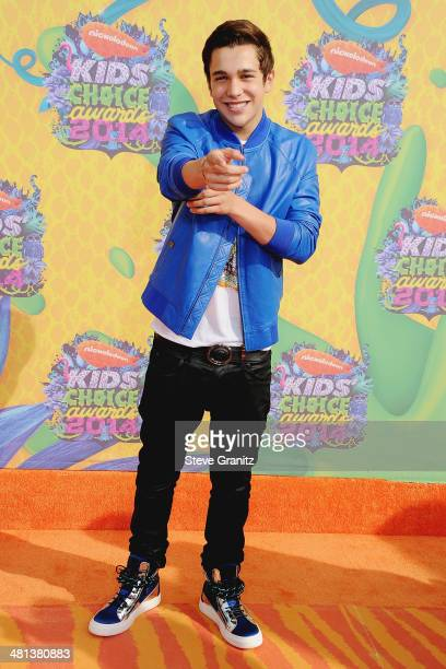 Singer Austin Mahone attends Nickelodeon's 27th Annual Kids' Choice Awards held at USC Galen Center on March 29 2014 in Los Angeles California