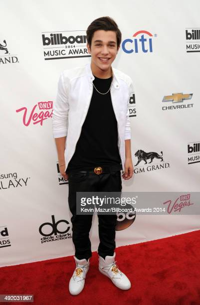 Singer Austin Mahone attends the 2014 Billboard Music Awards at the MGM Grand Garden Arena on May 18 2014 in Las Vegas Nevada