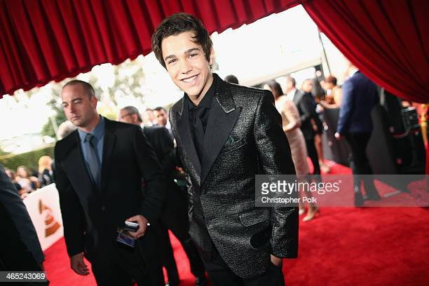 Singer Austin Mahone attends the 56th GRAMMY Awards at Staples Center on January 26 2014 in Los Angeles California