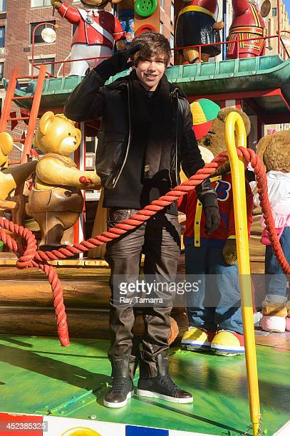 Singer Austin Mahone attends the 87th Annual Macy's Thanksgiving Day Parade on November 28 2013 in New York City