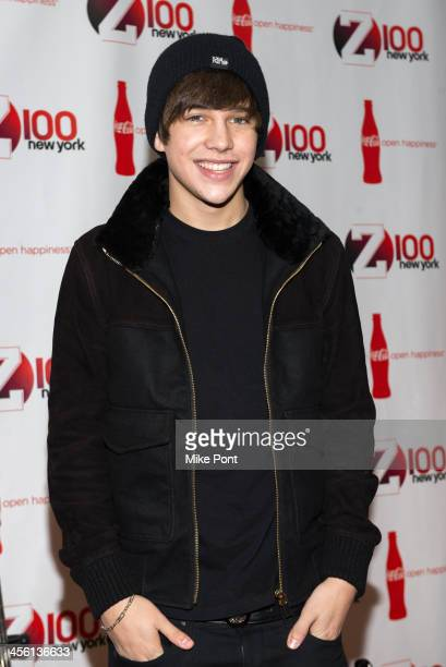 Singer Austin Mahone attends the Z100 CocaCola All Access Lounge at Hammerstein Ballroom on December 13 2013 in New York City
