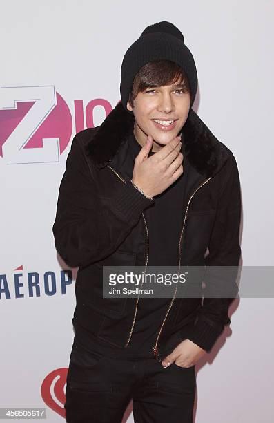 Singer Austin Mahone attends Z100's Jingle Ball 2013 at Madison Square Garden on December 13 2013 in New York City