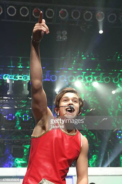 Singer Austin Mahone performs in concert at Hammerstein Ballroom on March 5 2014 in New York New York