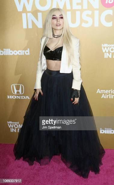 Singer Ava Max attends the Billboard's 13th Annual Women in Music event at Pier 36 on December 6 2018 in New York City